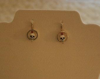 Chrome Skull Earrings
