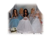 1 EXTRA FULL White or Blue Crinoline (Petticoat Slip). Fashion Doll Slip (Clothes only, Barbies, Lammily & Integrity Toys Doll not included)