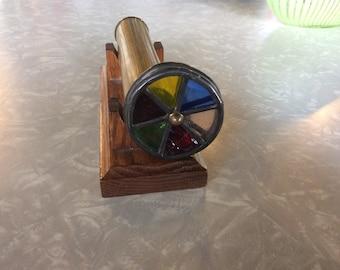 Antique Double Wheel Brass  Kaleidoscope