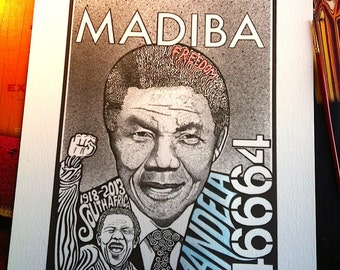 Nelson Mandela Print by Posterography