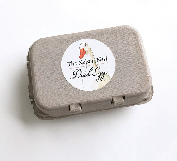 Duck egg carton labels duck drawing food by galleryinthegarden for Design your own egg boxes