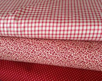 Fabric: HALF YARD - French General - Petite Wovens - Red - Moda Fabrics
