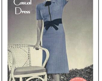 1930s Casual Dress Vintage Crochet Pattern - PDF Instant Download - PDF Crochet Pattern