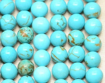 Beautiful/ 5mm/ Blue Turquoise/ Howlite/ Gemstone/ 5mm Beads / FULL STRAND
