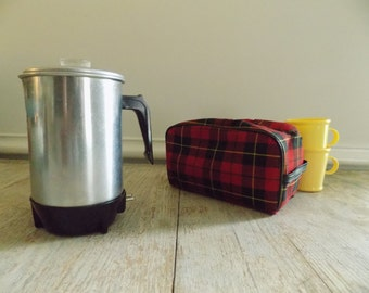 Enamel coffee pot - 8 cup perc with basket