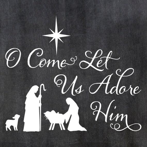 ... Him Manger Stable Wood Sign 12 x 12 Pillow Christmas Stencil #170