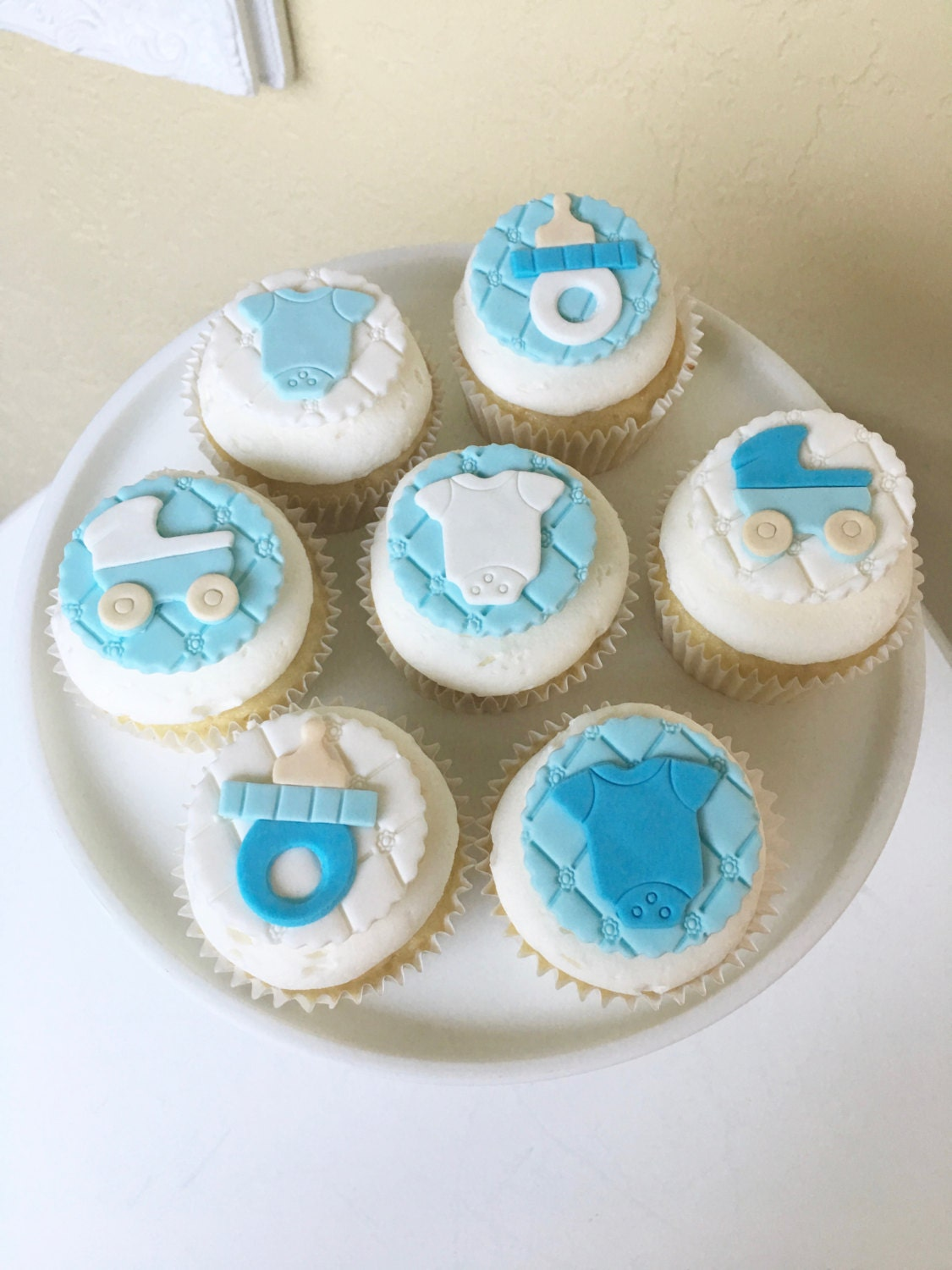 Baby Shower Cupcake Toppers Fondant