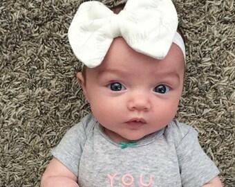 Newborn Headband set with Name. Personalized Wide Knot Headband and Personalized FOE Headband.  Baby Name Headband.  Infant headbands.