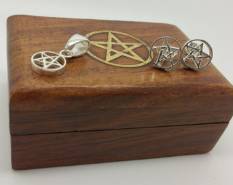 Pentacle Set with Wooden Box
