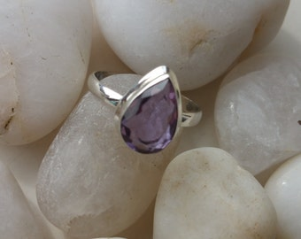 Amathyst/Lolite Teardrop Ring