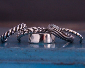 Silver ear cuffs.Set of 5.Cartilage ear cuffs.Sterling silver ear-cuffs.Silver earrings.Set of ear cuffs. Wrap earrings.