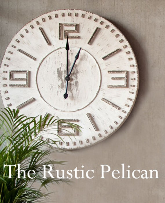clock rustic wood large wooden wall clock by rusticpelican