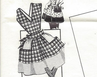 1950s Mail Order Pattern 7289, Apron With Catch-All Pockets, Uncut Sewing Pattern