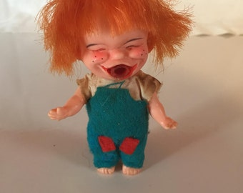 1960's Brat Doll, Vintage Ugly Doll, I'm Just a Little Brat Doll, Enco, Made in Japan
