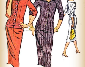 Sewing Pattern Vintage 1950s McCall's 4404 Misses Sheath Dress Size 12