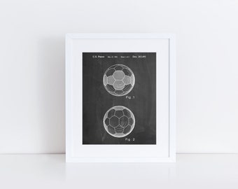 Leather Soccer Ball Patent Poster, Soccer Room Decor, Soccer Coach Gift, Soccer Wall Art, PP0062
