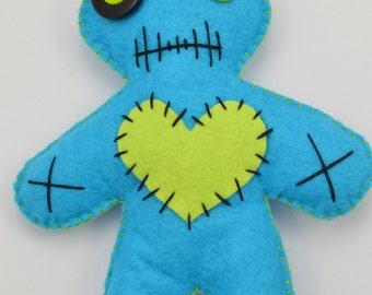 Voodoo Doll, Voodoo Plushie, Voodoo Baby, Felt Voodoo Doll, Hand Stitched Voodoo Doll, OOAK Doll, Voodoo Rag Doll