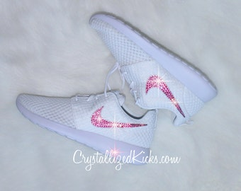 Nike Roshe One White Breeze Platinum Made with SWAROVSKI crystals