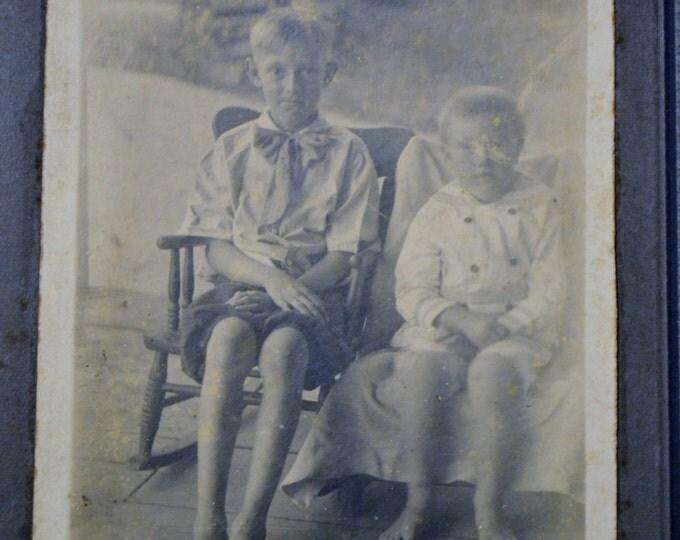 Vintage Photo Black and White Picture Portrait Children Boys Photograph Prop Display PanchosPorch