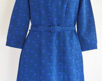 Vintage 1950s Blue Dress