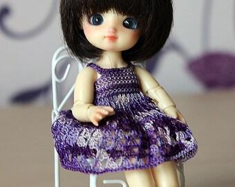 Purple lace dress for Puki-Puki, Brownie