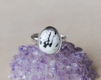 White Buffalo Turquoise Ring - White Buffalo Ring - White Buffalo Turquoise Jewelry