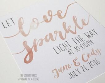 Wedding Sparkler Send Off Sign - Printable Watercolor Let Love Sparkle Wedding Sign - Sparkler Send Off - Sparkler Sign - AA6