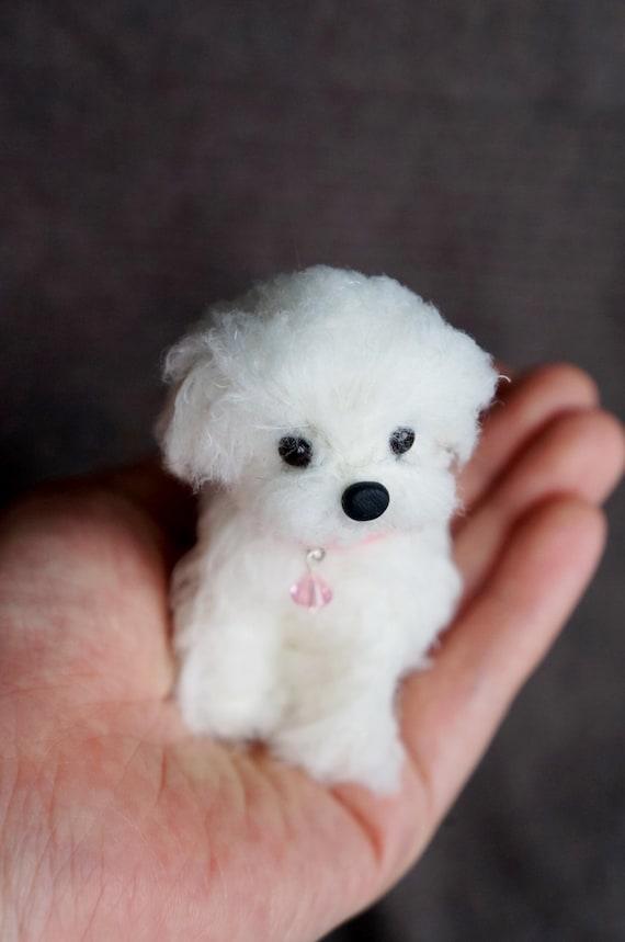 Needle Felted Maltese Dog Wool Maltipoo By Janetsneedlefelting