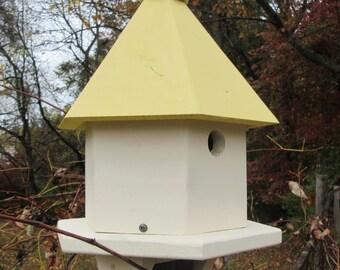 Handcrafted Hexagon Birdhouse