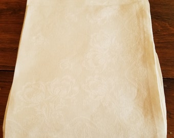Vintage Set of 6 Damask Napkins  #D25