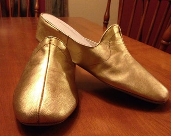 Great Vintage Classic Gold Daniel Green Glamour Slippers