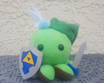 Link Octopus Plush - Zelda - Hero - Made to Order