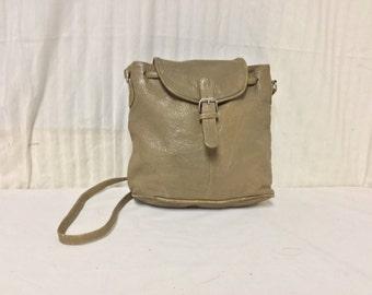 Leather Purse ,Shoulder Bag, Cross Body bag,bags,purse,cinch bag gray/tan