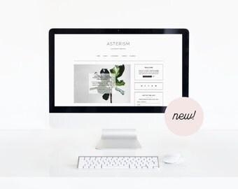 Asterism • Feminine Genesis Child Theme • Fashion WordPress Theme • Lifestyle WordPress Design.