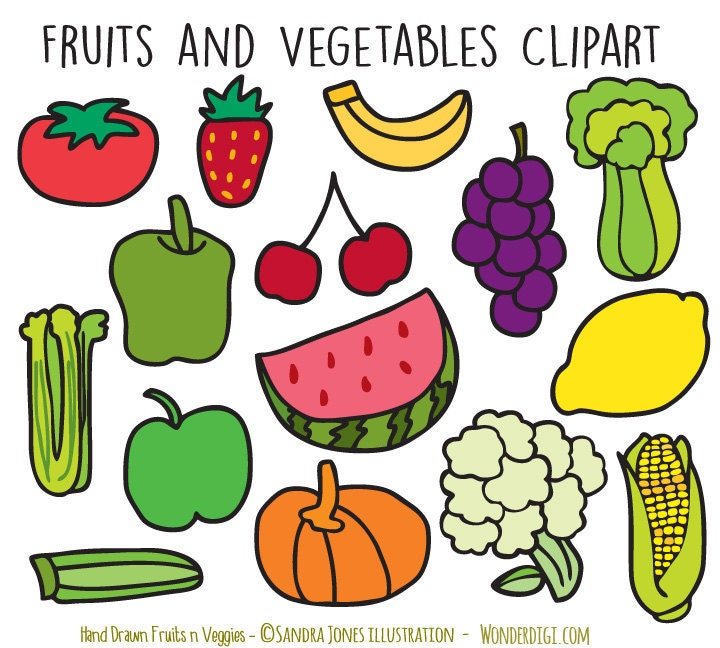 fruits and veggies clipart - Jaxstorm.realverse.us