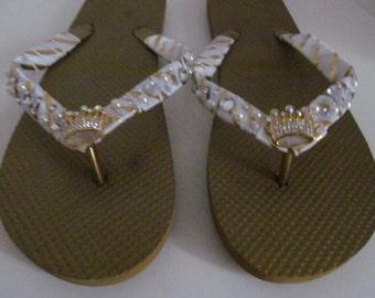 Gold Rhinestone Sandals, bridal flip flops, wedding flip flops, rhinestone sandals, destination weddings ,bridal shoes bridesmaids