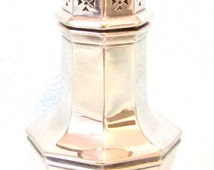 Vintage Silver Plate Sugar Shaker, Castor, Rose Water Sprinkler, Icing Sugar, Georgian Style Design, Collectible Plate, Mappin and Webb