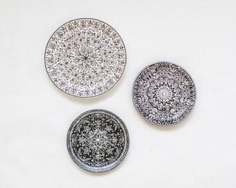 Decorative Wall Plates Set set of wall plates hand painted plates mandala plate