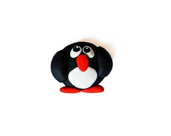 Penguin Magnet - Winter Magnet - Christmas Magnet - Kitchen Magnet - Polymer Clay Magnet - Refrigerator Magnet - Kawaii Magnet