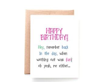 Funny Best Friend Birthday Card - Pink - Funny Card - Cute