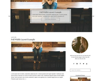 WordPress Theme | Fashion WordPressTheme | Black and White Theme | Modern Blog Design | Mobile Responsive | Genesis
