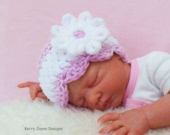 BABY CROCHET HAT Pattern - Velvet Daisy Hat - Crochet Pattern - Crochet Baby Hat Pattern  Baby Crochet Hat Pattern Crochet  pattern baby hat