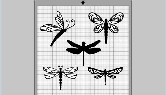 Download Dragonfly Collection SVG, (dxf, eps, pdf, png, svg ...