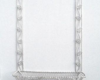 White Wrought Iron Garden Frame and Basket