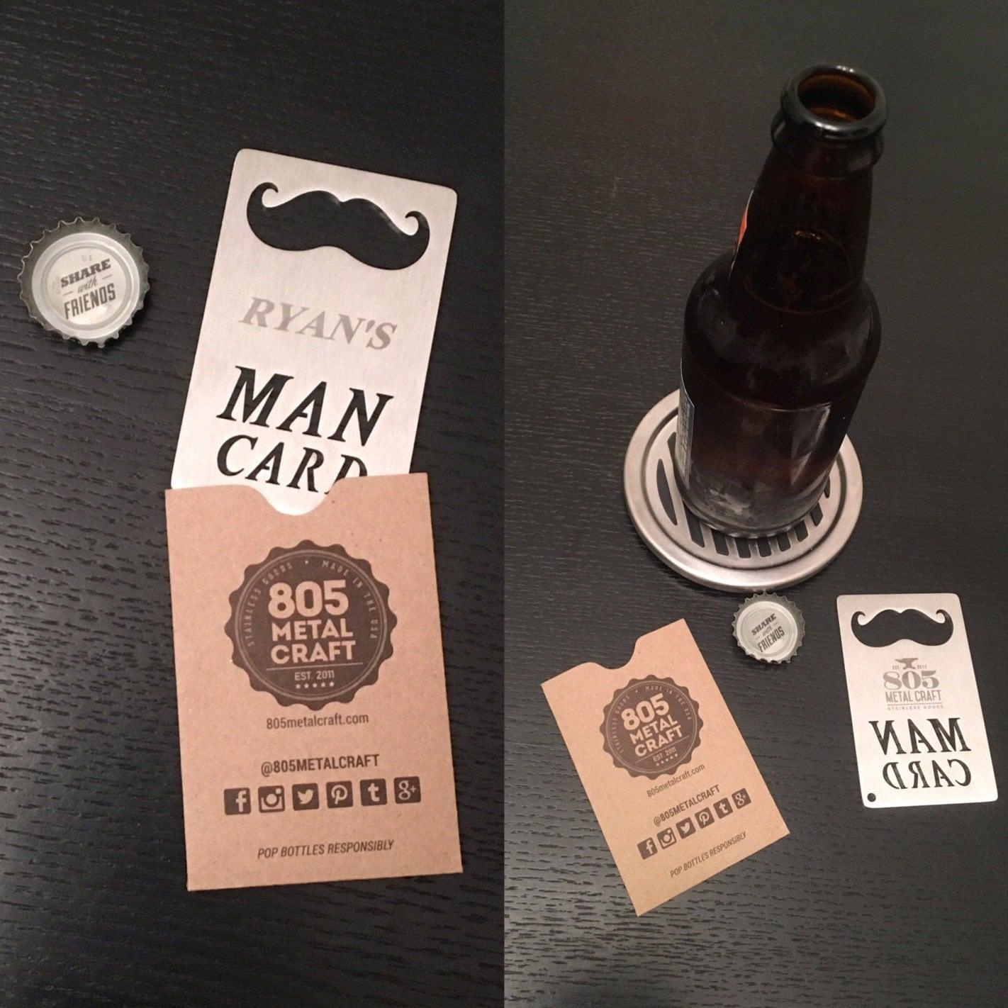 personalized man card wallet sized bottle opener. Black Bedroom Furniture Sets. Home Design Ideas
