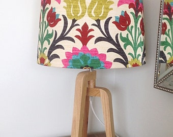 Lampshade Boho Lamp Shade Modern Drum Shade colourful Decor Barrel Lamshade.