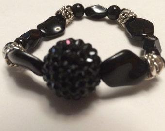 Sophisticated Black Statement Bracelet