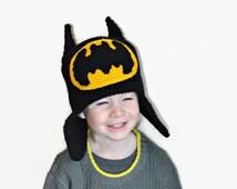 Batman Hat, Kids Batman Hat, Toddler Batman Hat, Boys Batman Hat, Girls Batman Hat, Baby Batman Hat, Child Batman Hat, Super Hero