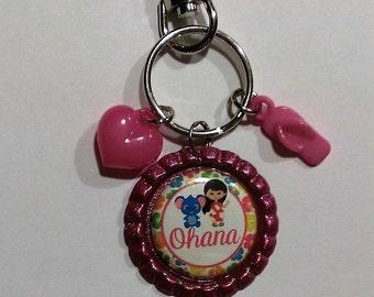 Pink Ohana Keychain