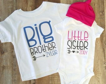 Big Brother Little Sister Outfit  / Beanie Optional / Photo Prop / Cousins / Brothers / Sisters